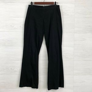 Soft Surroundings Black Textured Knit Trousers